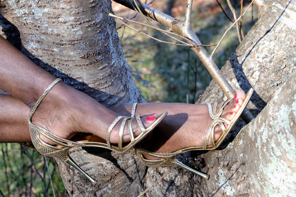 Tree Hugger in High Heels