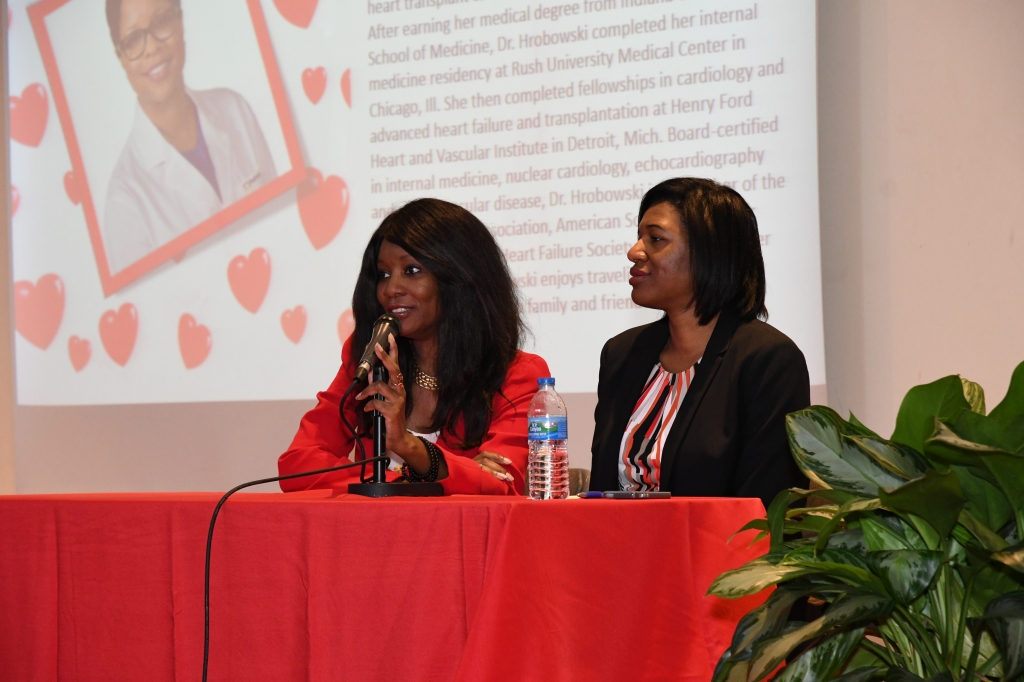 Me speaking at Spelman College, Heart Health Day
